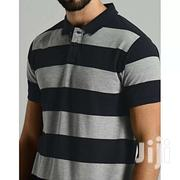 Men's Stripped Polo T-shirt | Clothing for sale in Central Region, Kampala