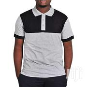 Men's Polo T-shirt Grey Black | Clothing for sale in Central Region, Kampala
